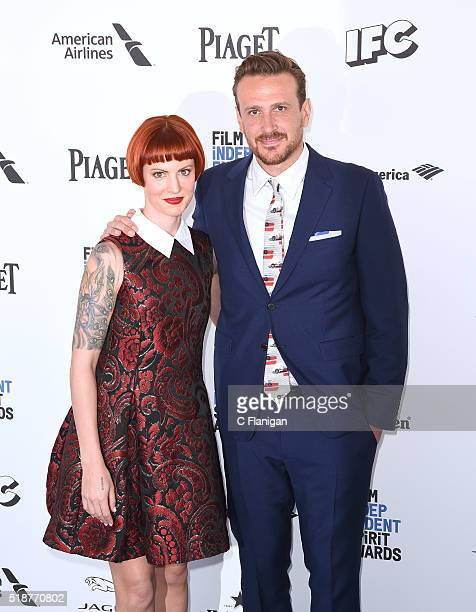 Actor Jason Segel and Alexis Mixter arrive for the 2016 Film Independent Spirit Awards held on February 27 2016 in Santa Monica California
