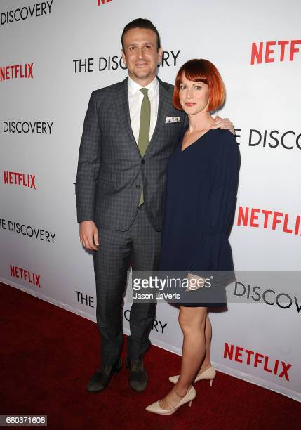 Actor Jason Segel and Alexis Mixter attend the premiere of The Discovery at the Vista Theatre on March 29 2017 in Los Angeles California