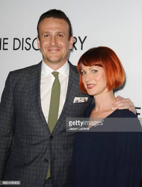 Actor Jason Segel and Alexis Mixter attend the premiere of 'The Discovery' at the Vista Theatre on March 29 2017 in Los Angeles California