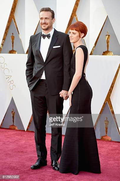 Actor Jason Segel and photographer Alexis Mixter attend attends the 88th Annual Academy Awards at Hollywood Highland Center on February 28 2016 in...