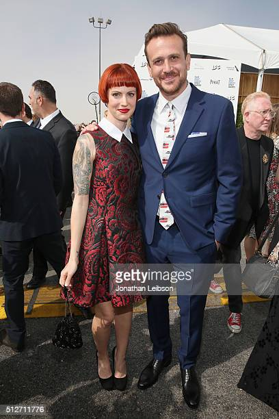 Actor Jason Segel and photographer Alexis Mixter attend the 2016 Film Independent Spirit Awards sponsored by Heineken on February 27 2016 in Santa...