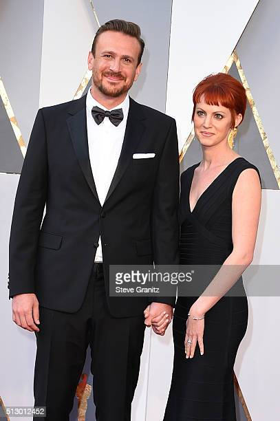 Actor Jason Segel and photographer Alexis Mixter attend the 88th Annual Academy Awards at Hollywood Highland Center on February 28 2016 in Hollywood...