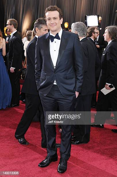 Actor Jason Segel arrives at the 84th Annual Academy Awards held at the Hollywood Highland Center on February 26 2012 in Hollywood California