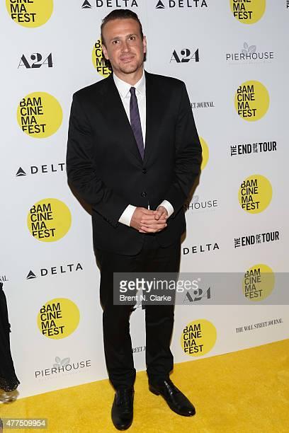 Actor Jason Segel arrives for the BAMcinemaFest 2015 The End Of Tour opening night screening held at BAM Howard Gilman Opera House on June 17 2015 in...