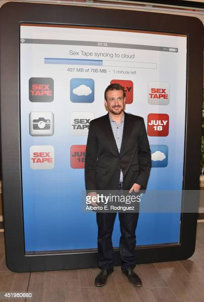 Actor Jason Segel attends a photocall for Columbia Pictures' 'Sex Tape' at The Four Seasons Hotel Los Angeles at Beverly Hills on July 10 2014 in...