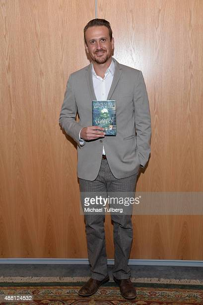 Actor Jason Segel attends a public discussion about his children's novel Nightmares The Sleepwalker Tonic at Moss Theatre at New Roads School on...