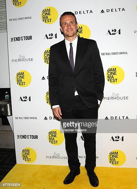 Actor Jason Segel attends BAMcinemaFest 2015 The End Of Tour opening night screening at BAM Howard Gilman Opera House on June 17 2015 in New York City
