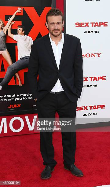 """Actor Jason Segel attends the premiere of Columbia Pictures' """"Sex Tape"""" at the Regency Village Theatre on July 10, 2014 in Westwood, California."""