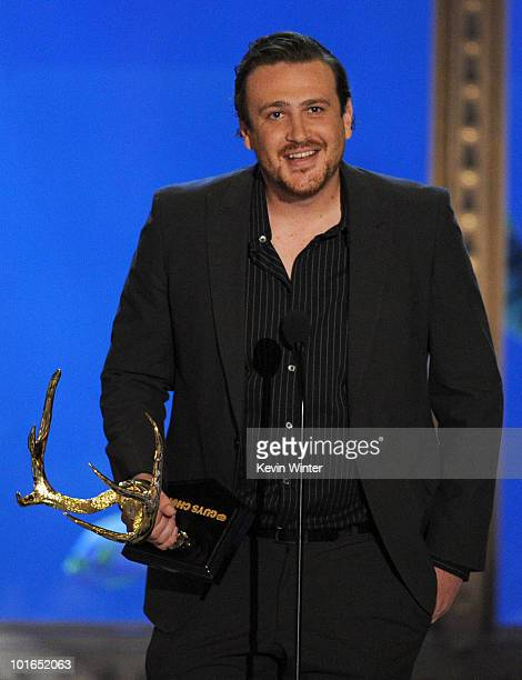 Actor Jason Segel speaks onstage during Spike TV's 4th Annual 'Guys Choice Awards' held at Sony Studios on June 5 2010 in Los Angeles California...