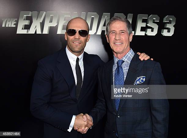 """Actor Jason Statham and Chief Executive Officer of Lions Gate Entertainment Jon Feltheimer attend the premiere of Lionsgate Films' """"The Expendables..."""