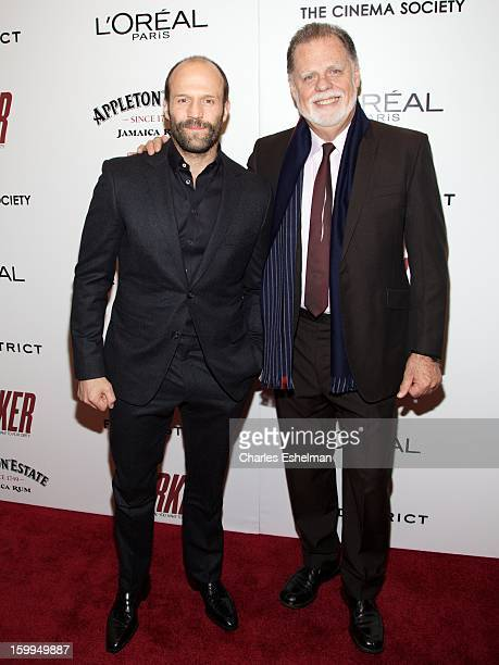 Actor Jason Statham and director Taylor Hackford attend the FilmDistrict with The Cinema Society L'Oreal Paris Appleton Estate screening of 'Parker'...