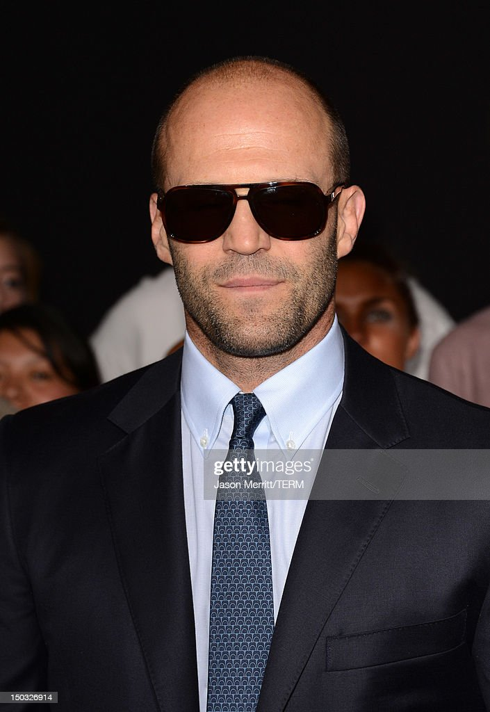 Actor Jason Statham arrives at Lionsgate Films' 'The Expendables 2' premiere on August 15, 2012 in Hollywood, California.