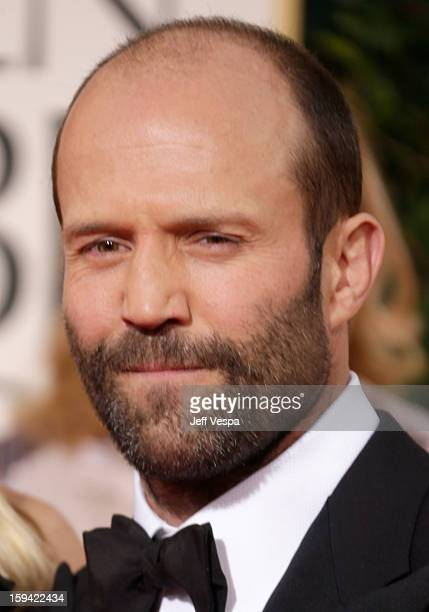 Actor Jason Statham arrives at the 70th Annual Golden Globe Awards held at The Beverly Hilton Hotel on January 13 2013 in Beverly Hills California