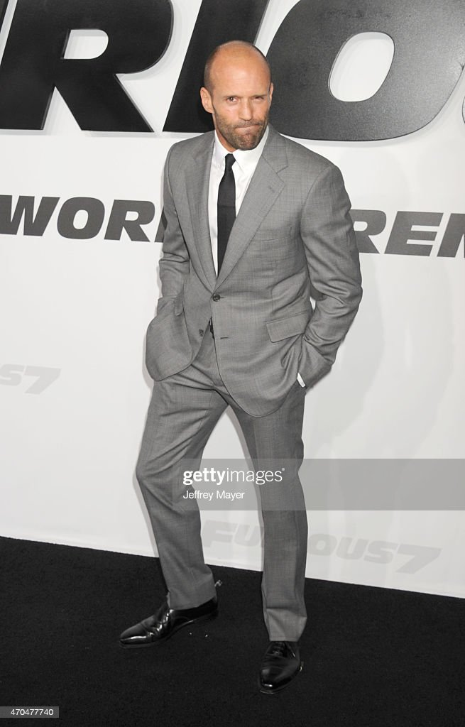 Actor Jason Statham arrives at the 'Furious 7' - Los Angeles Premiere at TCL Chinese Theatre IMAX on April 1, 2015 in Hollywood, California.