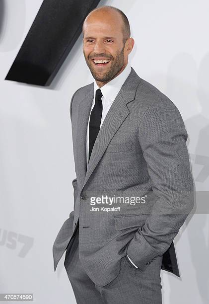 Actor Jason Statham arrives at the Los Angeles Premiere 'Furious 7' at TCL Chinese Theatre IMAX on April 1 2015 in Hollywood California
