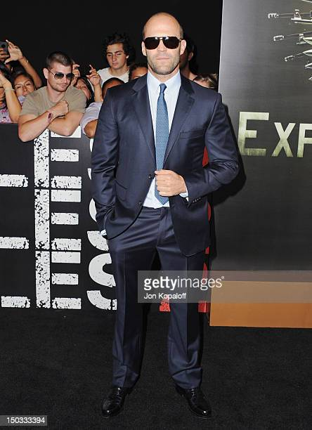 Actor Jason Statham arrives at the Los Angeles Premiere 'The Expendables 2' at Grauman's Chinese Theatre on August 15 2012 in Hollywood California