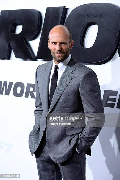 Actor Jason Statham arrives at the Premiere Of Universal Pictures' Furious 7 at TCL Chinese Theatre on April 1 2015 in Hollywood California