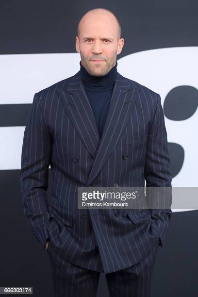 Actor Jason Statham attends The Fate Of The Furious New York Premiere at Radio City Music Hall on April 8 2017 in New York City