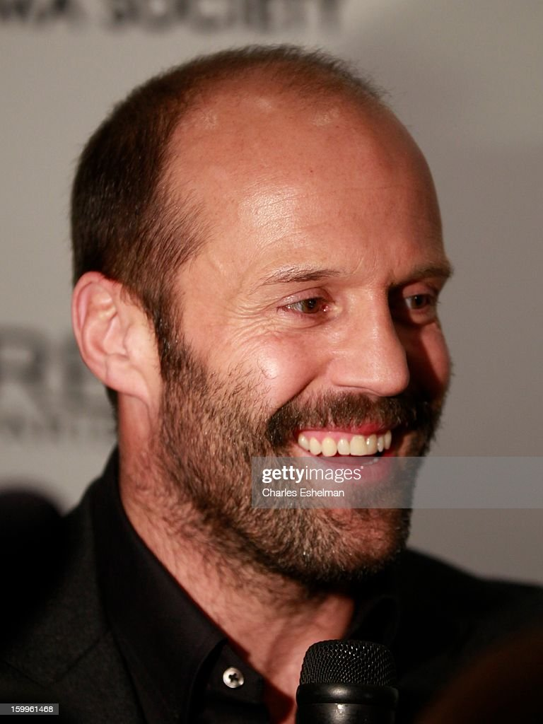 Actor Jason Statham attends the FilmDistrict with The Cinema Society, L'Oreal Paris & Appleton Estate screening of 'Parker' at The Museum of Modern Art on January 23, 2013 in New York City.