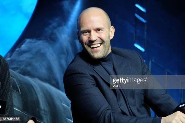 Actor Jason Statham attends the press conference of director F Gary Gray's film The Fate of the Furious on March 23 2017 in Beijing China