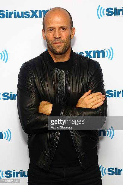 Actor Jason Statham poses for photos during SiriusXM's 'Town Hall' With Melissa McCarthy Jason Statham And Paul Feig at the SiriusXM Studios on June...