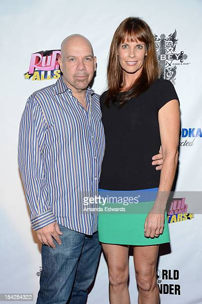 Actor Jason Stuart and actress Alexandra Paul arrive at the 'Rupaul's Drag Race All Stars' Premiere Party at The Abbey on October 16 2012 in West...