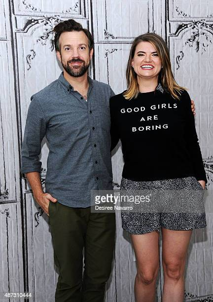 Actor Jason Sudeikis and filmmakeer Leslye Headland attend AOL BUILD Speaker Series Sleeping With Other People at AOL Studios In New York on...
