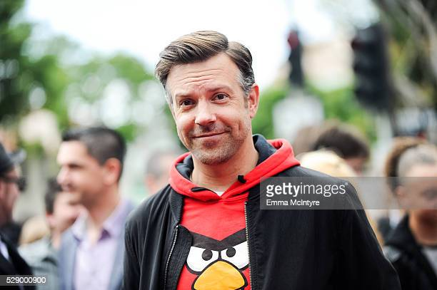 Actor Jason Sudeikis arrives at the premiere of Sony Pictures' 'Angry Birds' at Regency Village Theatre on May 7 2016 in Westwood California