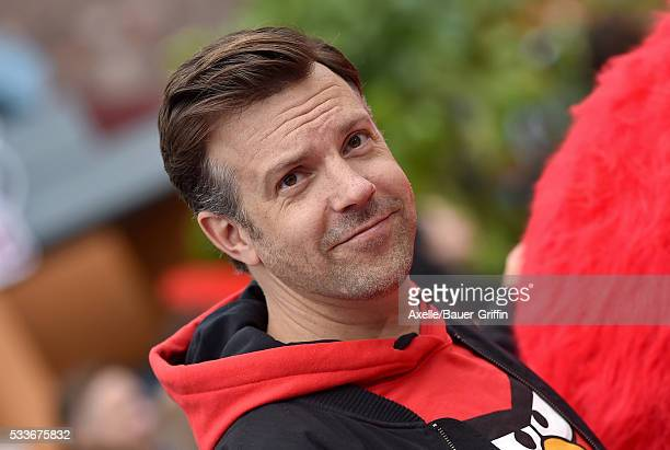 Actor Jason Sudeikis arrives at the premiere of Sony Pictures' 'The Angry Birds Movie' at Regency Village Theatre on May 7 2016 in Westwood California