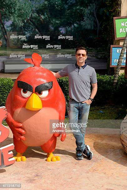 Actor Jason Sudeikis attends the 'Angry Birds' photo call during Summer Of Sony Pictures Entertainment 2015 at The RitzCarlton Cancun on June 16 2015...