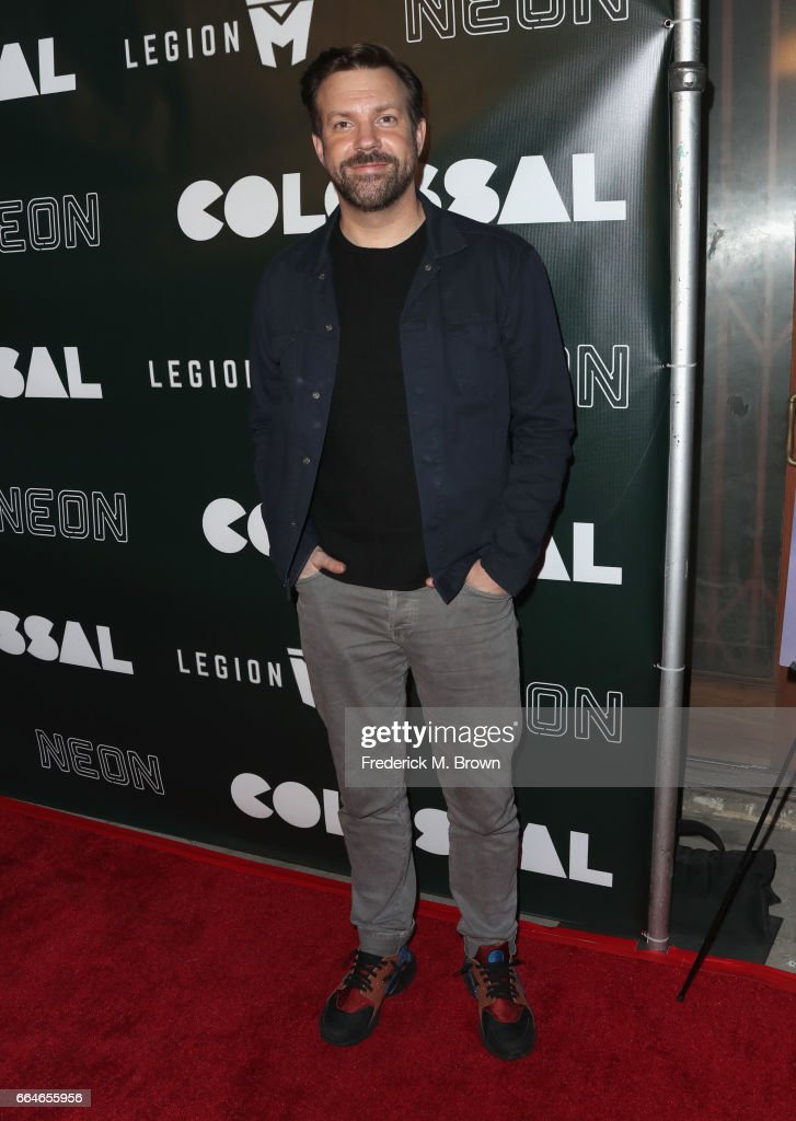 Actor Jason Sudeikis attends the Premiere Of Neon's 'Colossal' at the Vista Theatre on April 4, 2017 in Los Angeles, California.