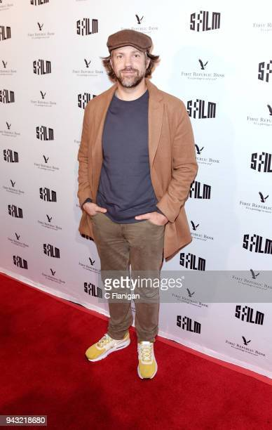 Actor Jason Sudeikis attends the San Francisco Film Festival Premiere of Kodachrome at the Victoria Theatre on April 7 2018 in San Francisco...