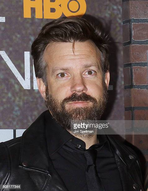 Actor Jason Sudeikis attends the 'Vinyl' New York premiere at Ziegfeld Theatre on January 15 2016 in New York City