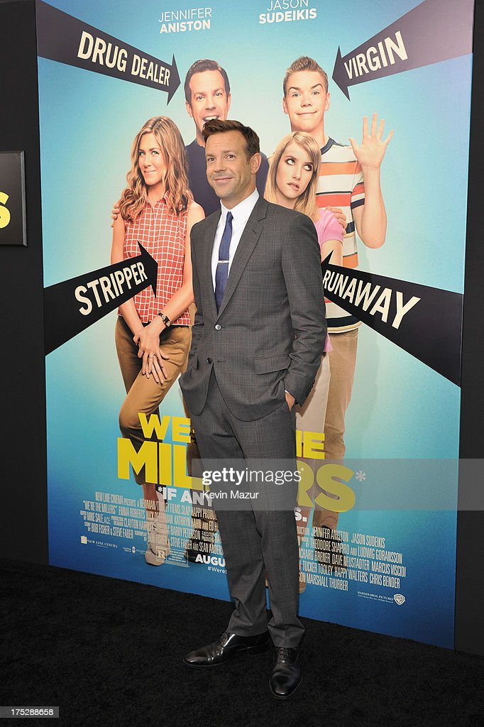 Actor Jason Sudeikis attends the 'We're The Millers' New York Premiere at Ziegfeld Theater on August 1, 2013 in New York City.