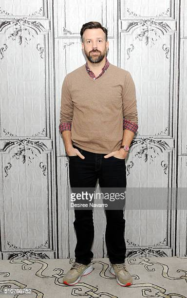 Actor Jason Sudeikis discusses the new film 'Race' during AOL Build Speaker Series at AOL Studios In New York on February 16 2016 in New York City
