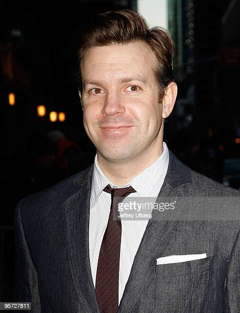 Actor Jason Sudeikis visits 'Late Show With David Letterman' at the Ed Sullivan Theater on January 12 2010 in New York City