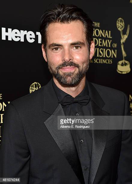 Actor Jason Thompson attends The 41st Annual Daytime Emmy Awards at The Beverly Hilton Hotel on June 22 2014 in Beverly Hills California