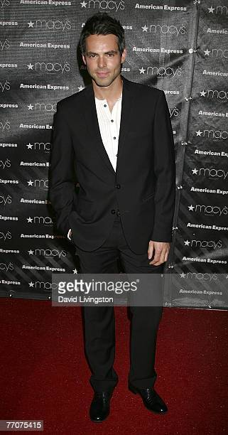 Actor Jason Thompson attends the Macy's Passport auction and fashion show in celebration of it's 25th anniversary at Barker Hangar on September 27...