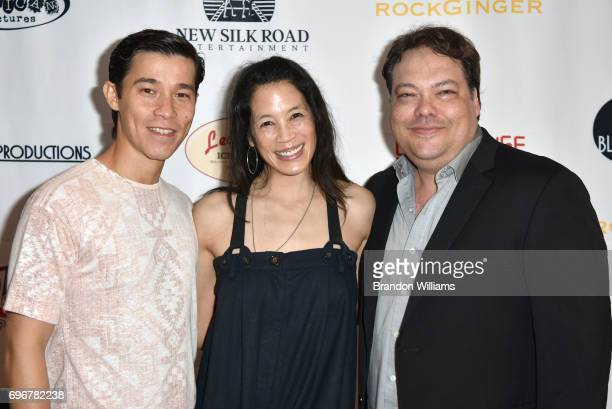 "Actor Jason Tobin actor Eugenia Yuan and director Dax Phelan attend the theatrical release of Indican Pictures' ""Jasmin"" at the Laemmle Monica Film..."