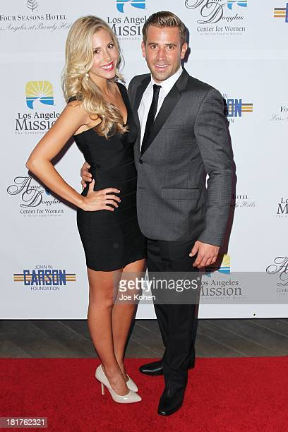 Actor Jason Wahler and Ashley Slack attend the Los Angeles Mission Gala at Four Seasons Hotel Los Angeles at Beverly Hills on September 24 2013 in...