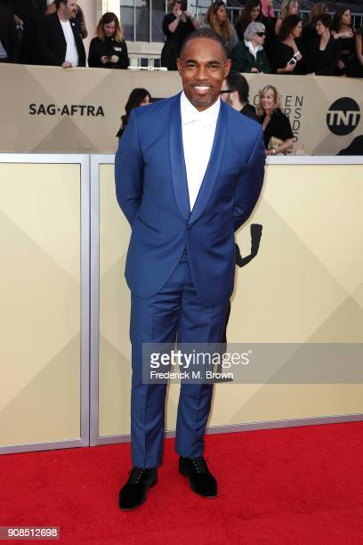 Actor Jason Winston George attends the 24th Annual Screen Actors Guild Awards at The Shrine Auditorium on January 21 2018 in Los Angeles California...
