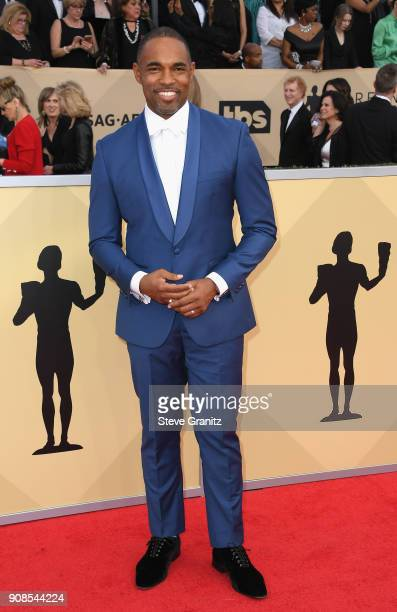 Actor Jason Winston George attends the 24th Annual Screen ActorsGuild Awards at The Shrine Auditorium on January 21 2018 in Los Angeles California