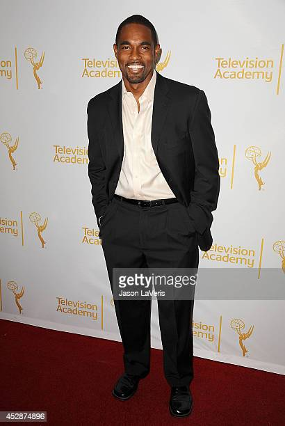 Actor Jason Winston George attends the Television Academy's performers peer group celebrating the 66th Emmy Awards at Montage Beverly Hills on July...