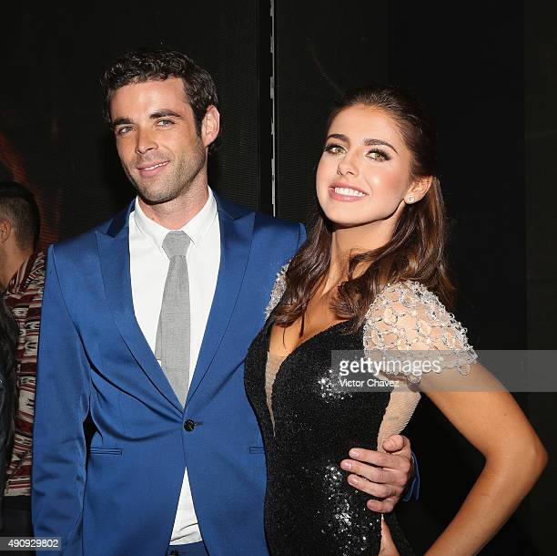 Actor Jauma Mateu and actress Michelle Renaud attend the 'Pasion y Poder' press conference at Live Aqua Bosques on October 1 2015 in Mexico City...