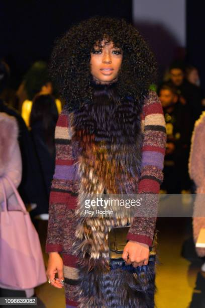 Actor Javicia Leslie attends the Son Jung Wan Fashion Show during New York Fashion Week The Shows at Gallery I at Spring Studios on February 9 2019...