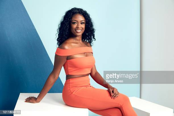 Actor Javicia Leslie of CBS's 'God Friended Me' poses for a portrait during the 2018 Summer Television Critics Association Press Tour at The Beverly...