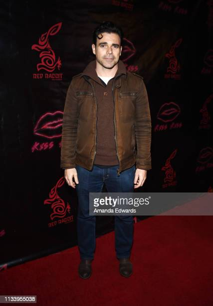 Actor Javier Alcina arrives at the Los Angeles premiere of 'KISS KISS' at the Ahrya Fine Arts Theater by Laemmle on March 05 2019 in Beverly Hills...