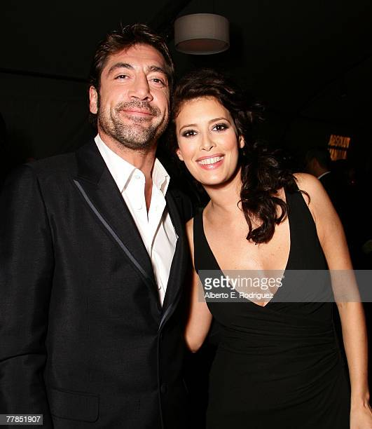"""Actor Javier Bardem and actress Angie Cepeda attend the after party at the Los Angeles premiere of New Line Cinema's film """"Love in the Time of..."""