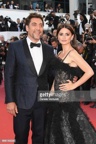 """Actor Javier Bardem and actress Penelope Cruz, wearing jewels by Atelier Swarovski Fine Jewelry attend the screening of """"Everybody Knows """" and the..."""