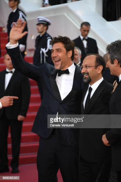 Actor Javier Bardem and director Asghar Farhadi attends the screening of Everybody Knows and the opening gala during the 71st annual Cannes Film...